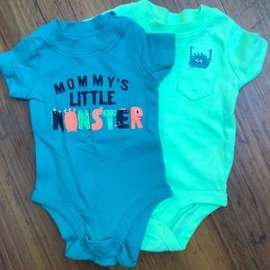 Two Monster onesies! Perfect for Halloween time